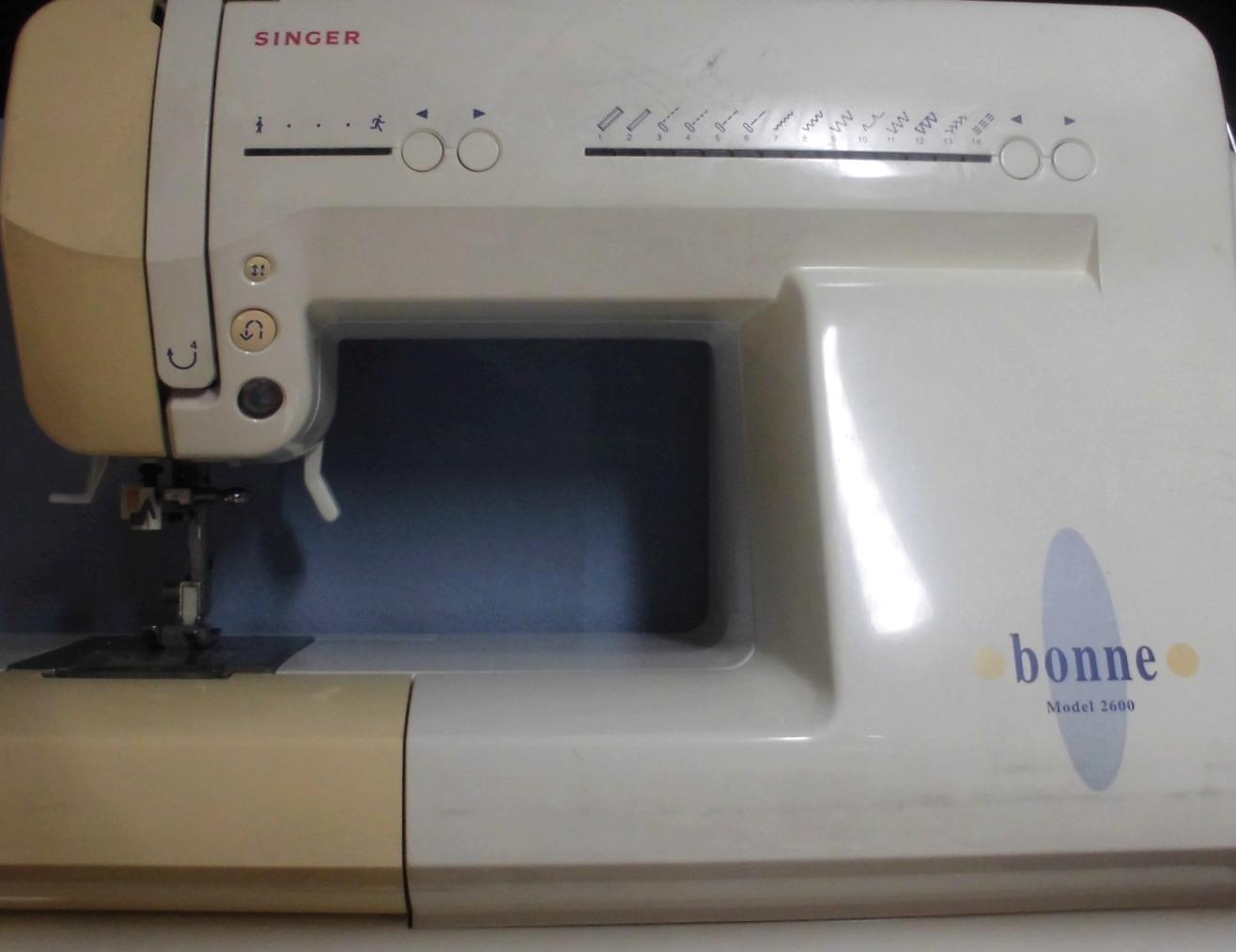 シンガーミシン修理|bonne model2680|動かない、異音、自動糸通し不良