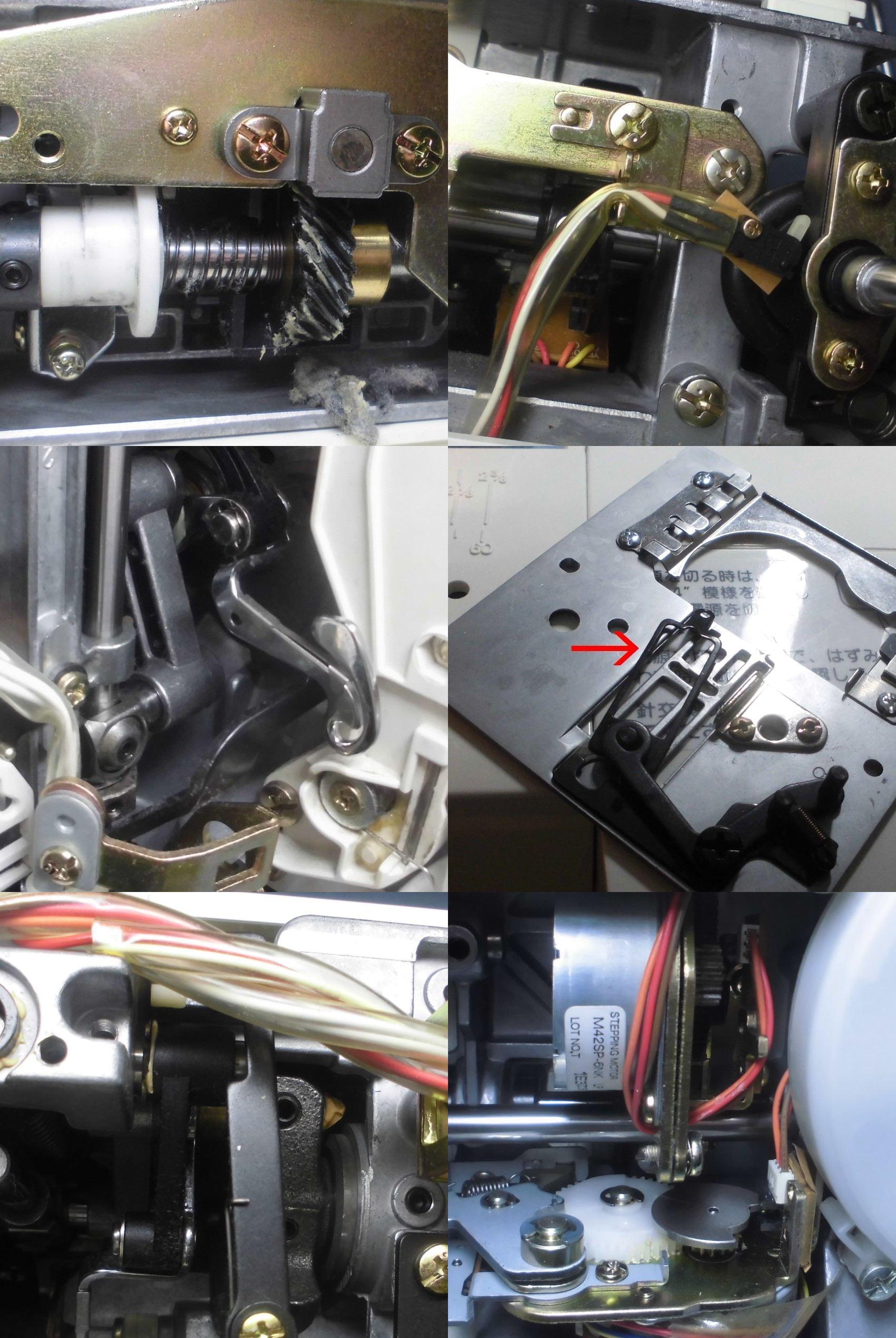 ジャノメミシンS7800の全体オーバーホールメンテナンス ミシン修理