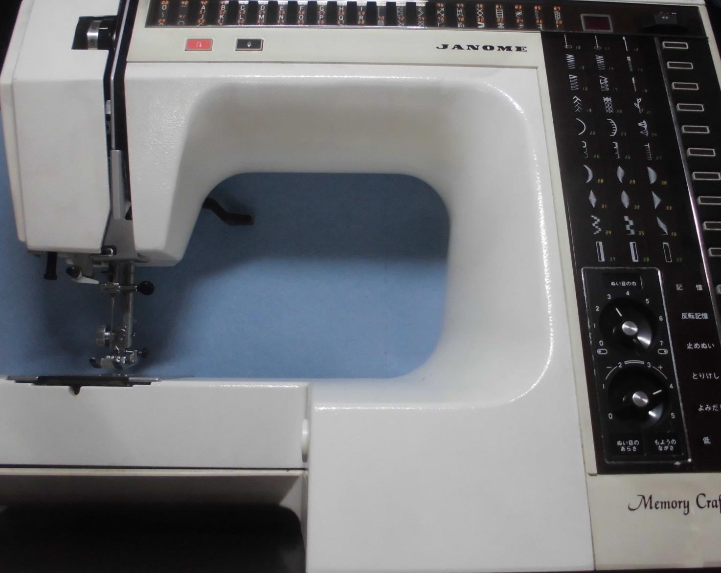 ジャノメミシン修理|メモリークラフト6000|布を送らず縫えない、異音、固着