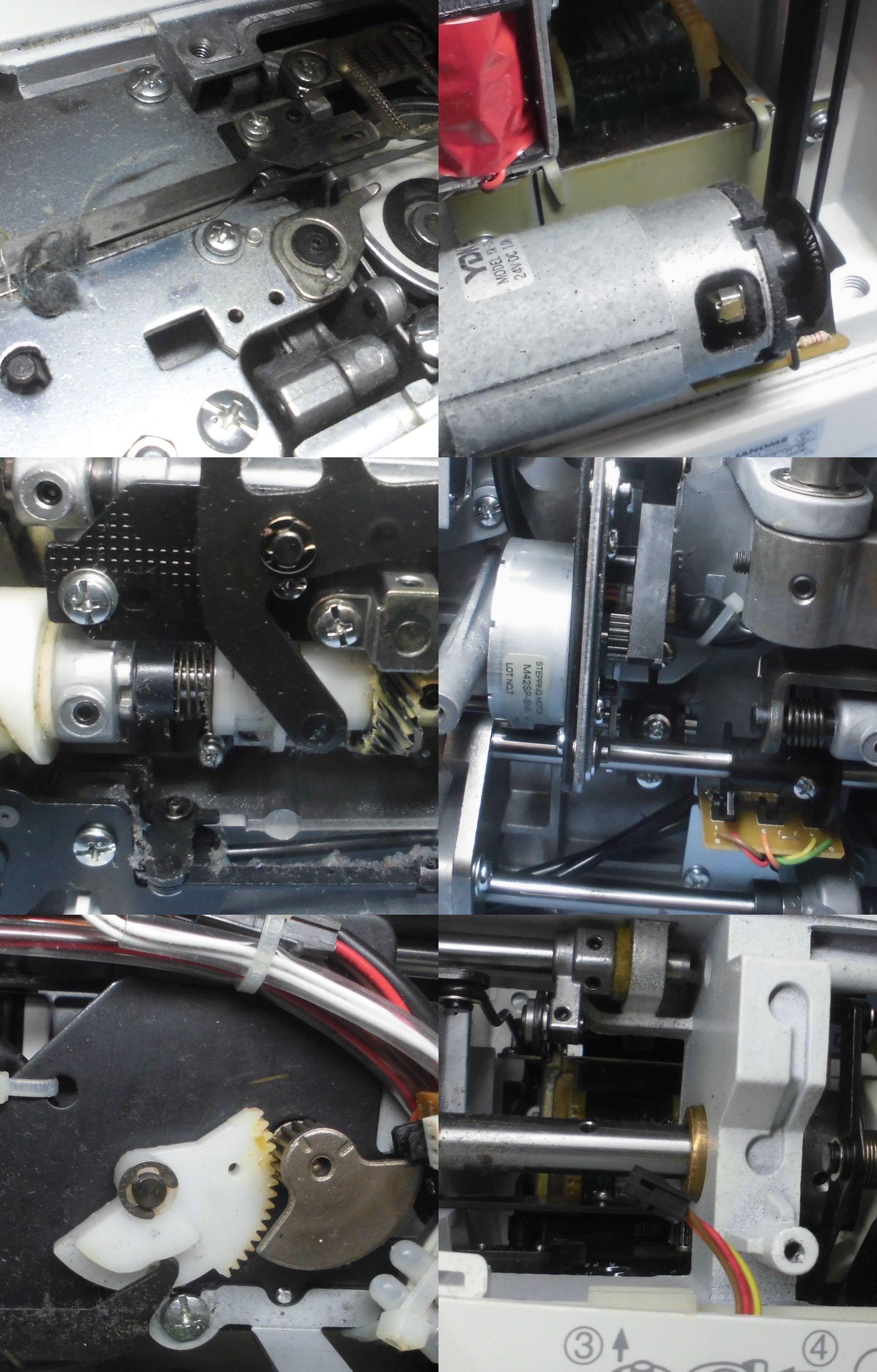 ジャノメミシン CK1200の全体オーバーホールメンテナンス修理