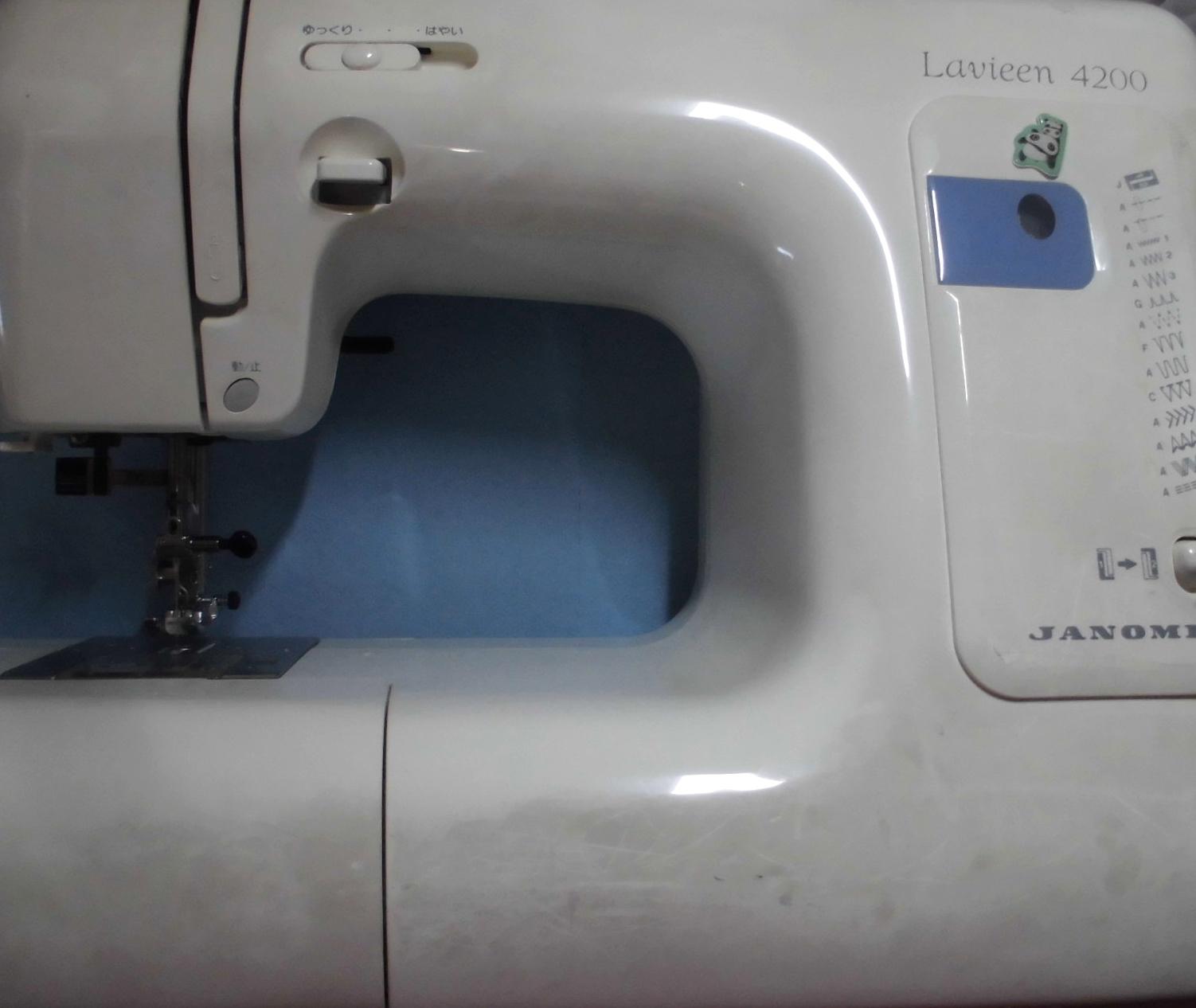 ジャノメミシン修理|ラビーン4200 751型|動かない、はずみ車が回らない、縫えない