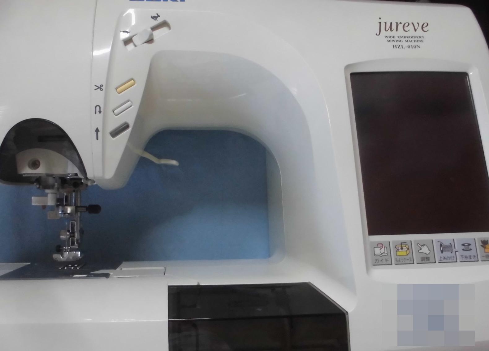 ジューキミシン修理|ジュレーブ HZL-010N|上糸かけ不良、固着、糸調子、部品の外れ