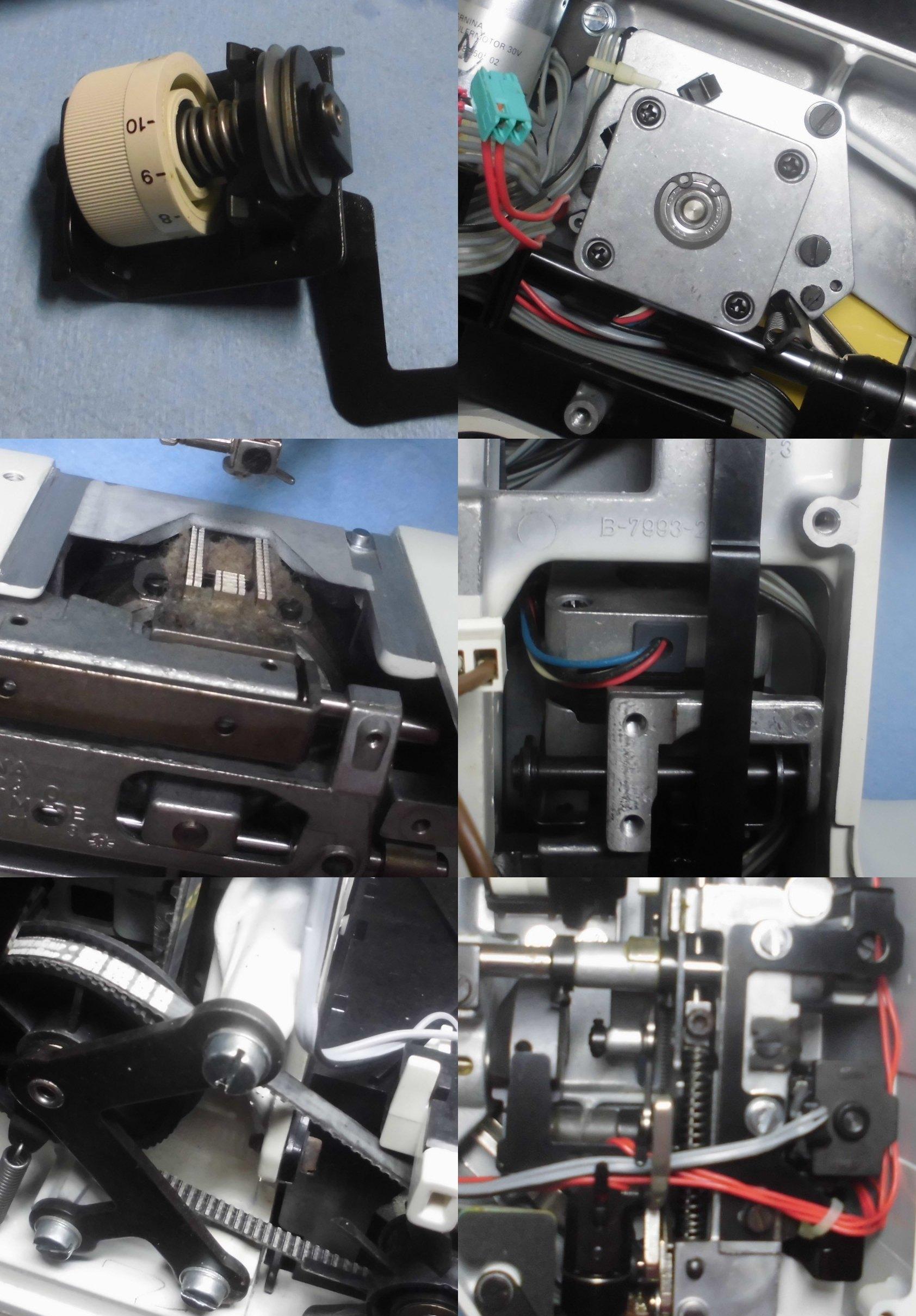 ホリデーヌ1240の故障や不具合|糸調子不良、部品の交換、固着、ステップモーター