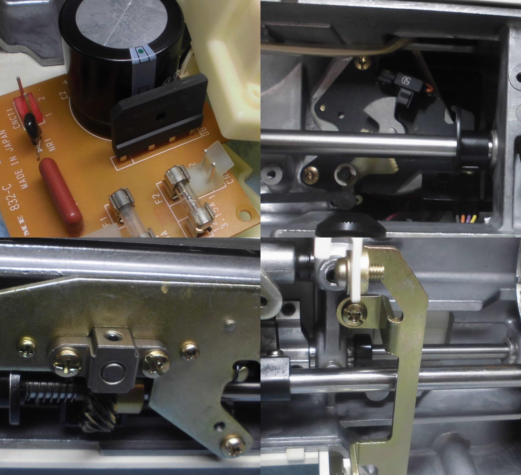 ジャノメミシン セシオ8500の全体オーバーホールメンテナンス修理