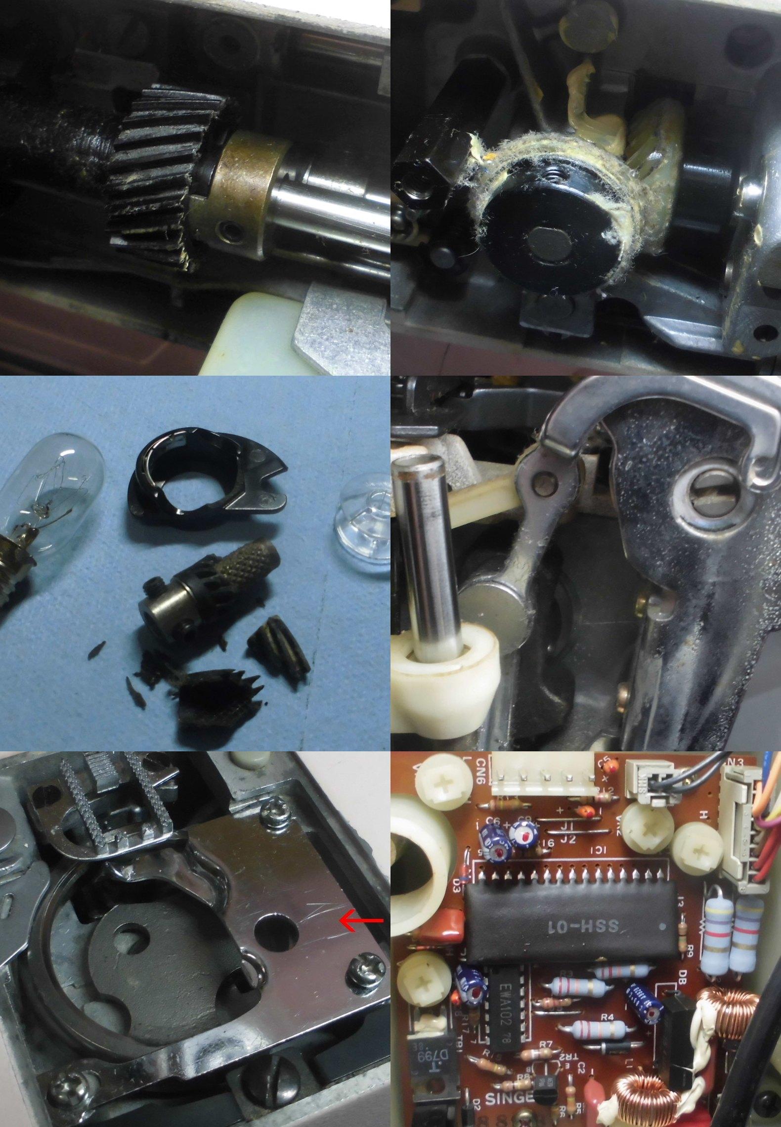 シンガーミシンRUMINA1690の全体オーバーホールメンテナンス修理