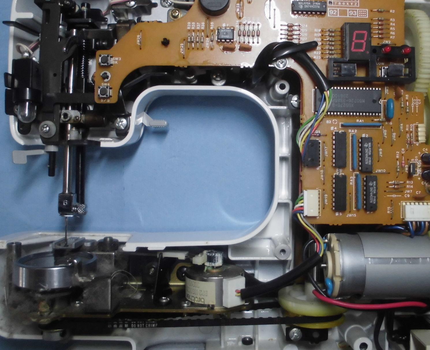 ブラザーミシンZZ3-B121の分解オーバーホールメンテナンス修理|SINCERE-L
