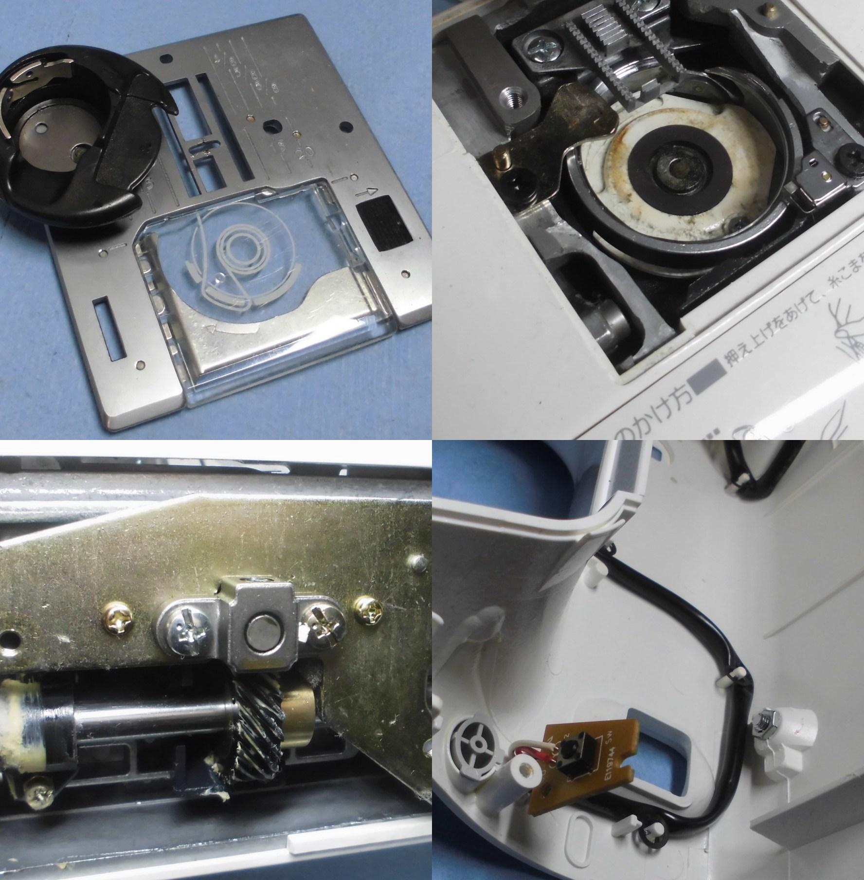 JANOME JE-3210EXの故障や不具合|ミシンが動かない、縫えない、はずみ車が回らない