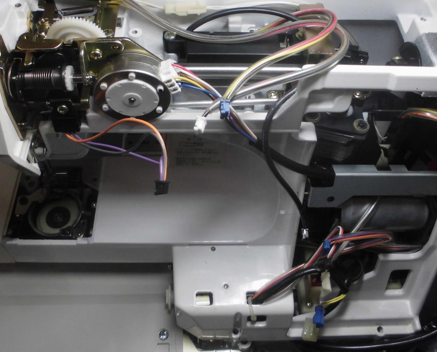 ジャノメミシン セシオEX9000の分解オーバーホールメンテナンス修理
