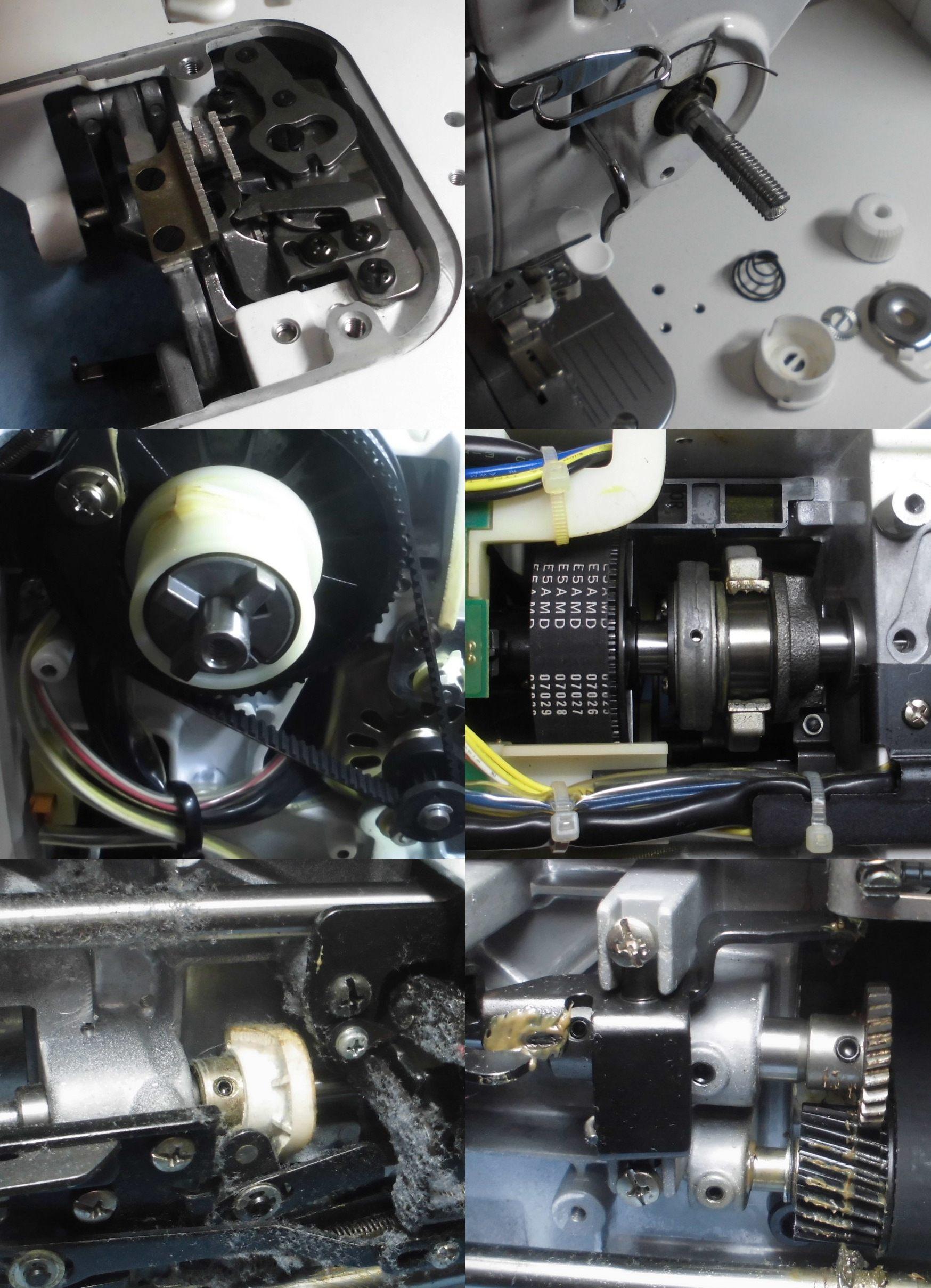 TL-25DXの全体オーバーホールメンテナンス修理|ジューキミシン|SPUR25deluxe
