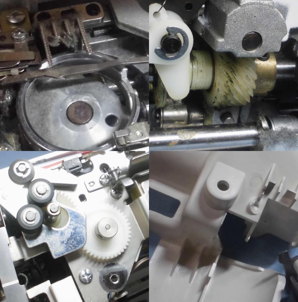 ブラザーミシン ミモレLの分解オーバーホールメンテナンス修理|ZZ3-B897
