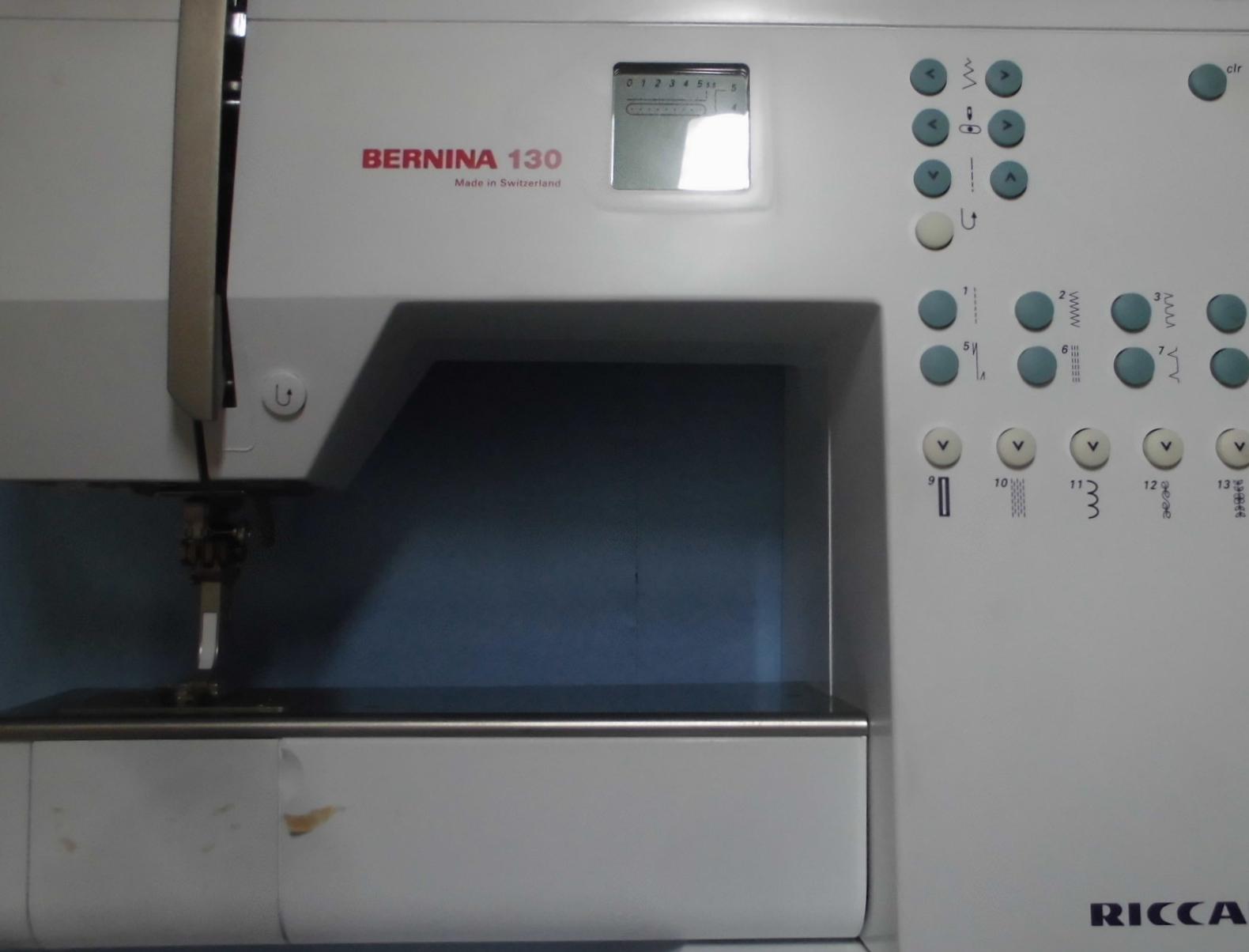 リッカーミシン修理|ベルニナ130|布を送らない、送り歯が下がっている、縫えない