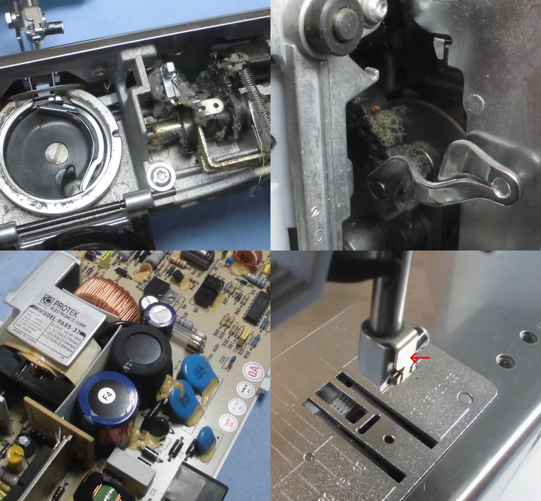 Virtuosa160の全体オーバーホールメンテナンス修理|BERNINAミシン