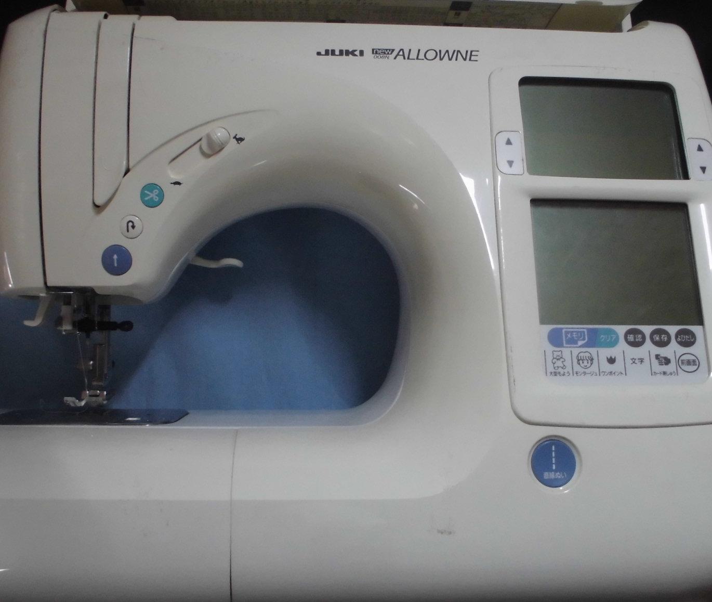 ジューキミシン修理|ニューアローネ|正常に縫えない、糸が絡まる、基板不良
