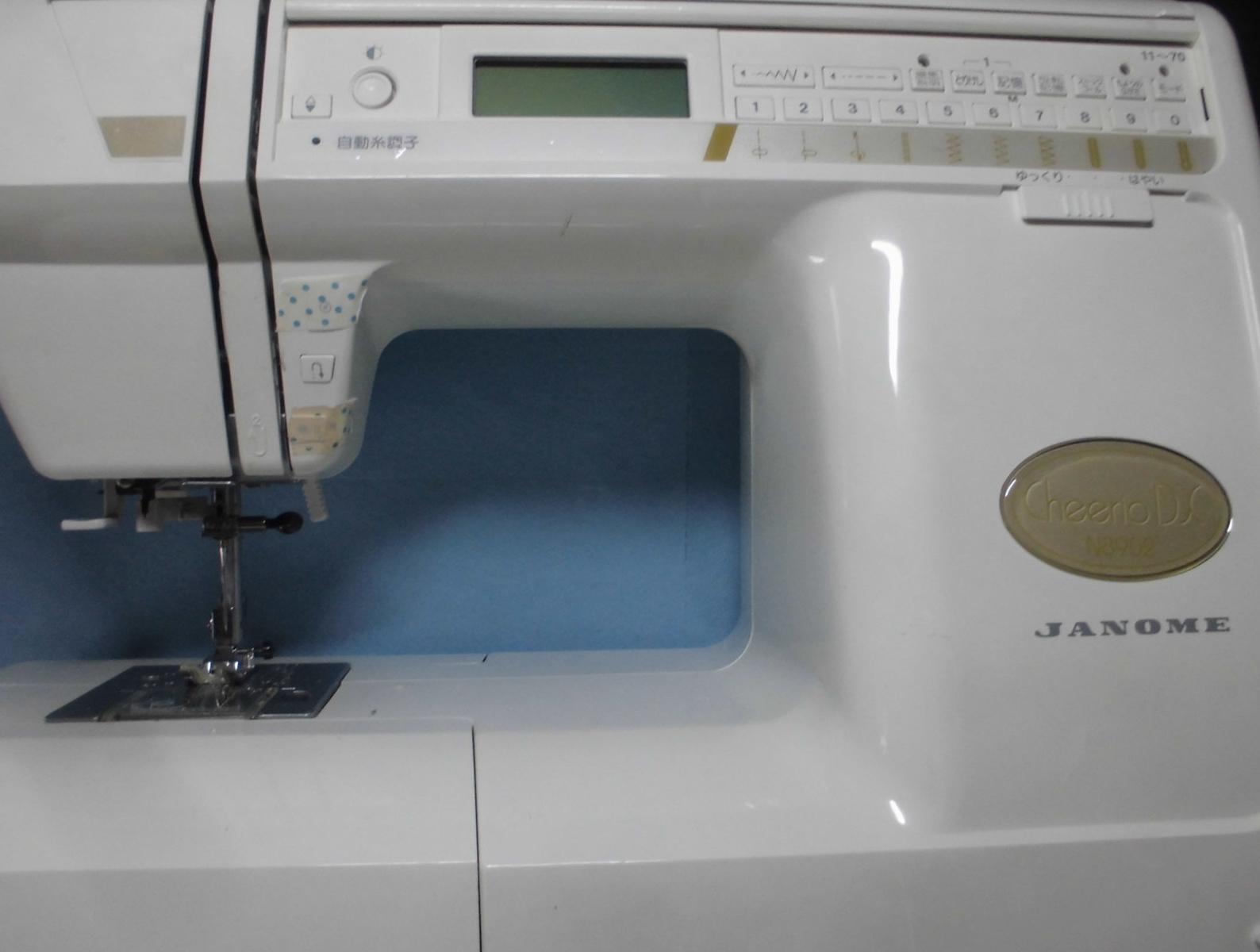 ジャノメミシン修理|チェリオDX N8902|縫えない、動かない、部品の取付け