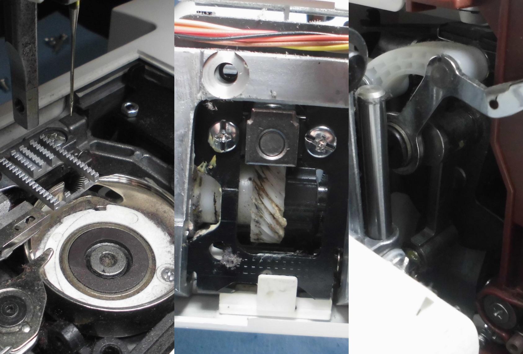 ジャノメミシンPE860の分解オーバーホールメンテナンス修理