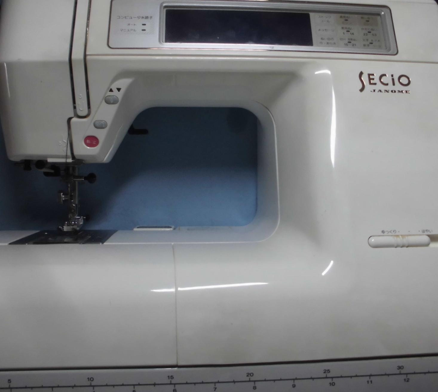ジャノメミシン修理|セシオ8210|ガガガ異音、動かない、エラー、液晶が暗くて見えない