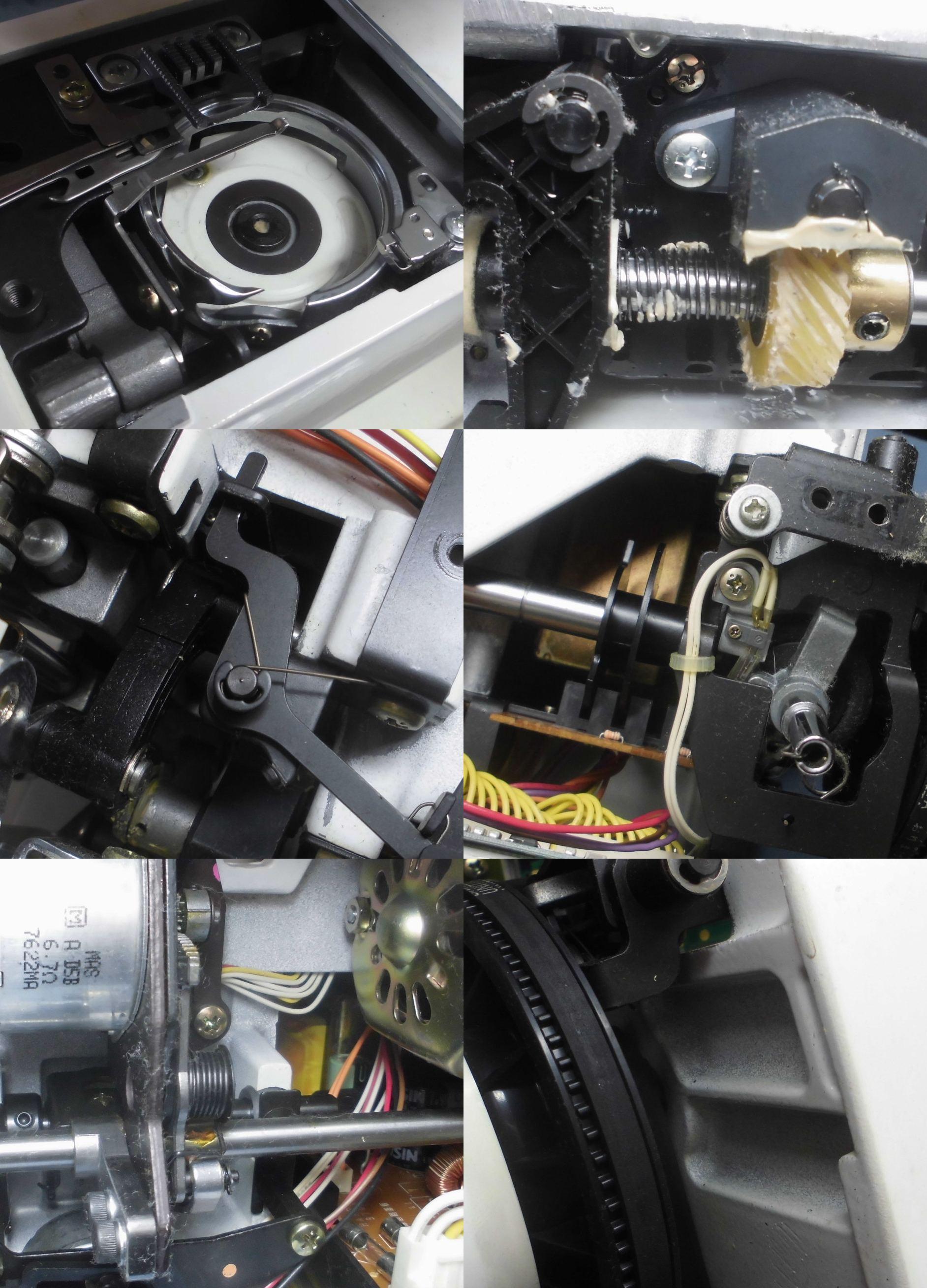 アプリコット9700の全体オーバーホールメンテナンス修理|シンガーミシン