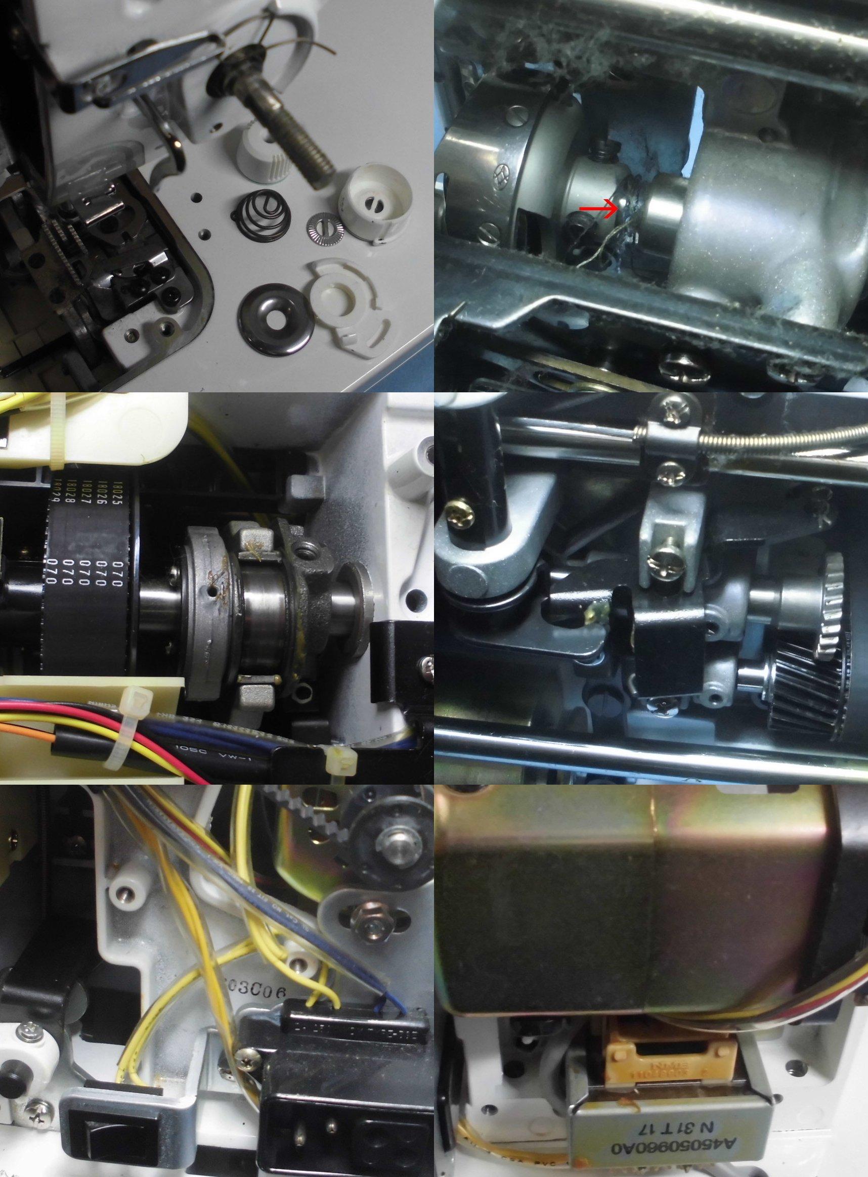 JUKIミシン SPUR98specialの全体オーバーホールメンテナンス修理|TL-98SP