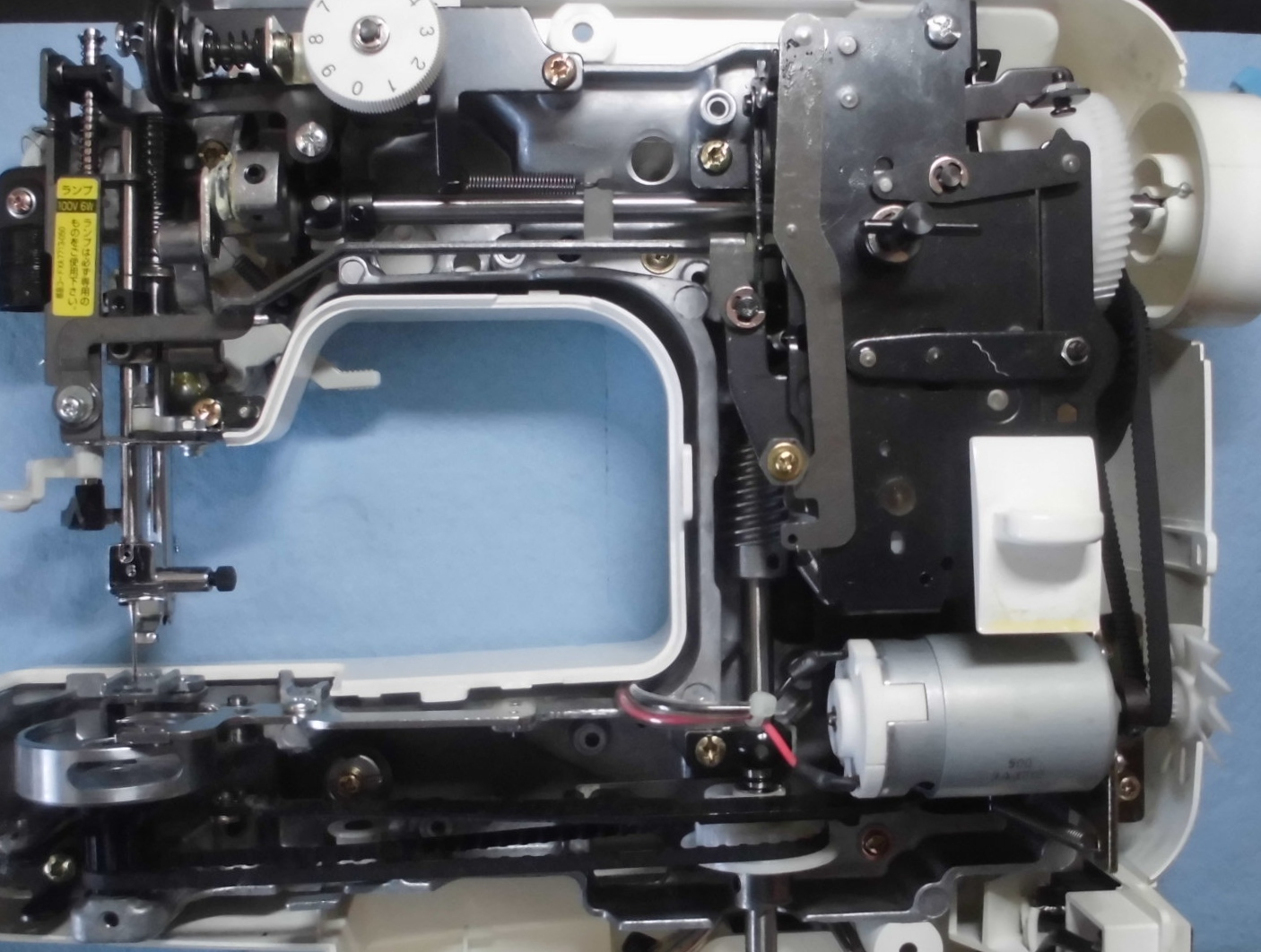ブラザーミシンEL130 JODYの分解オーバーホールメンテナンス修理