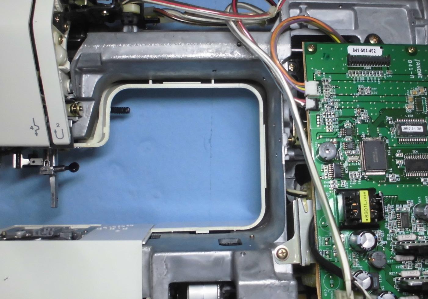 JANOME S7700の分解オーバーホールメンテナンス修理