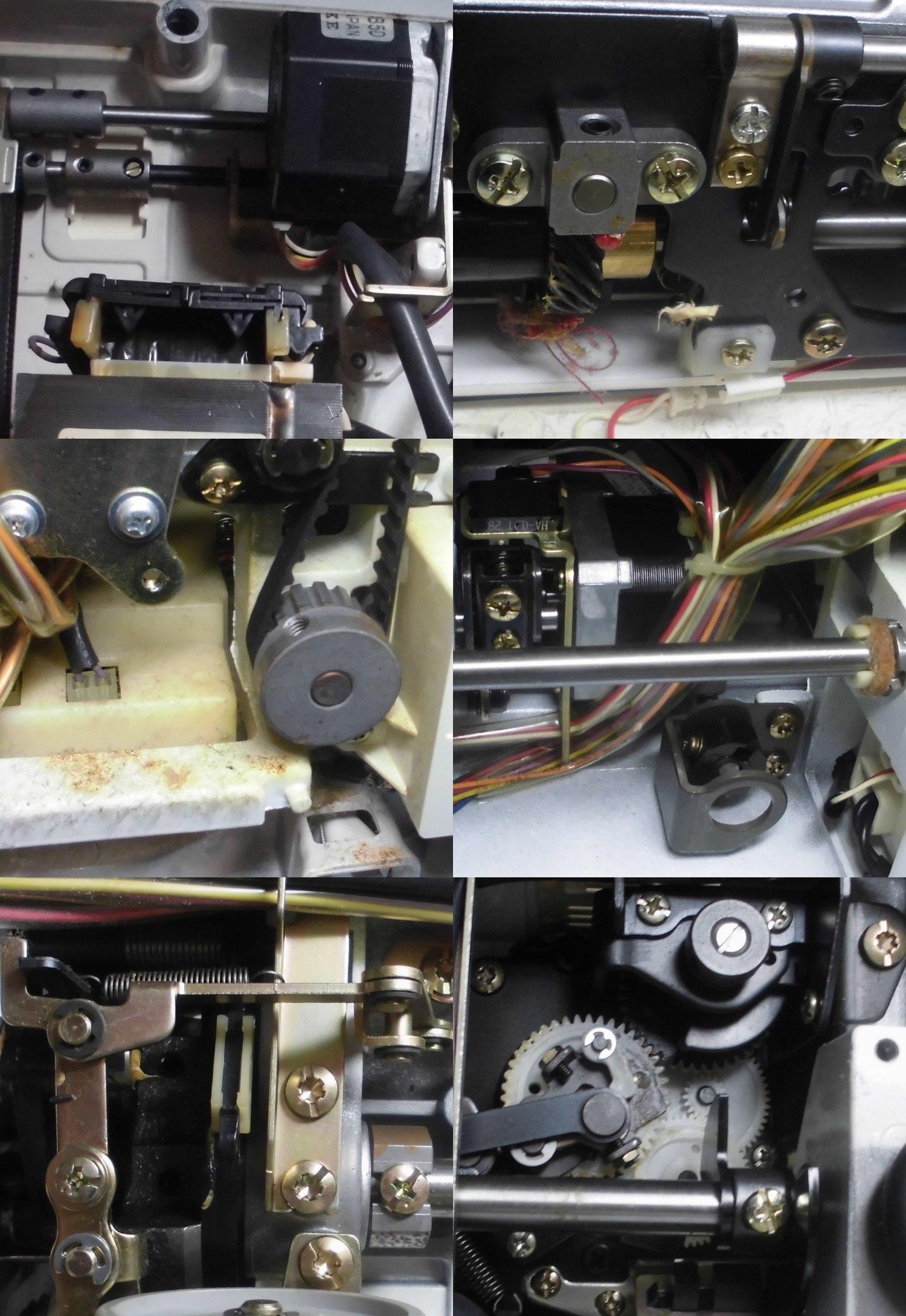 ジャノメミシン セシオ8200の分解メンテナンス修理|縫えない、動かない、固着