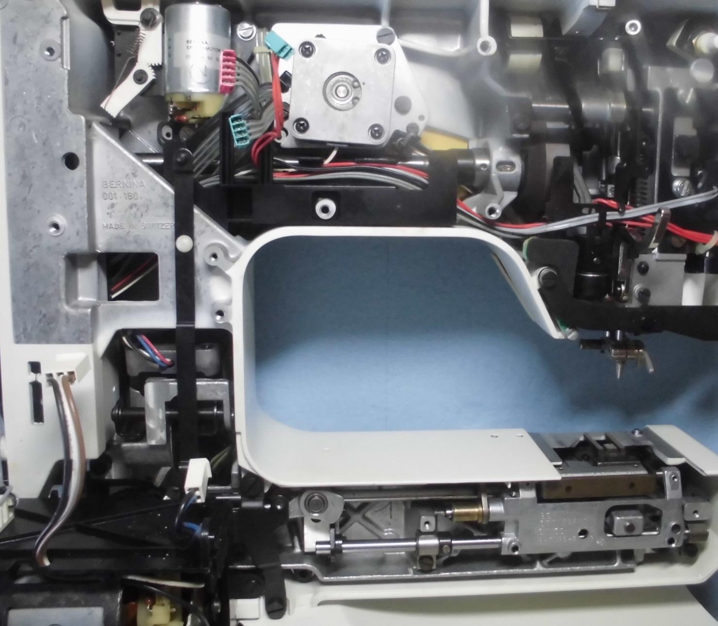 BERNINA RCM1230の分解オーバーホールメンテナンス修理