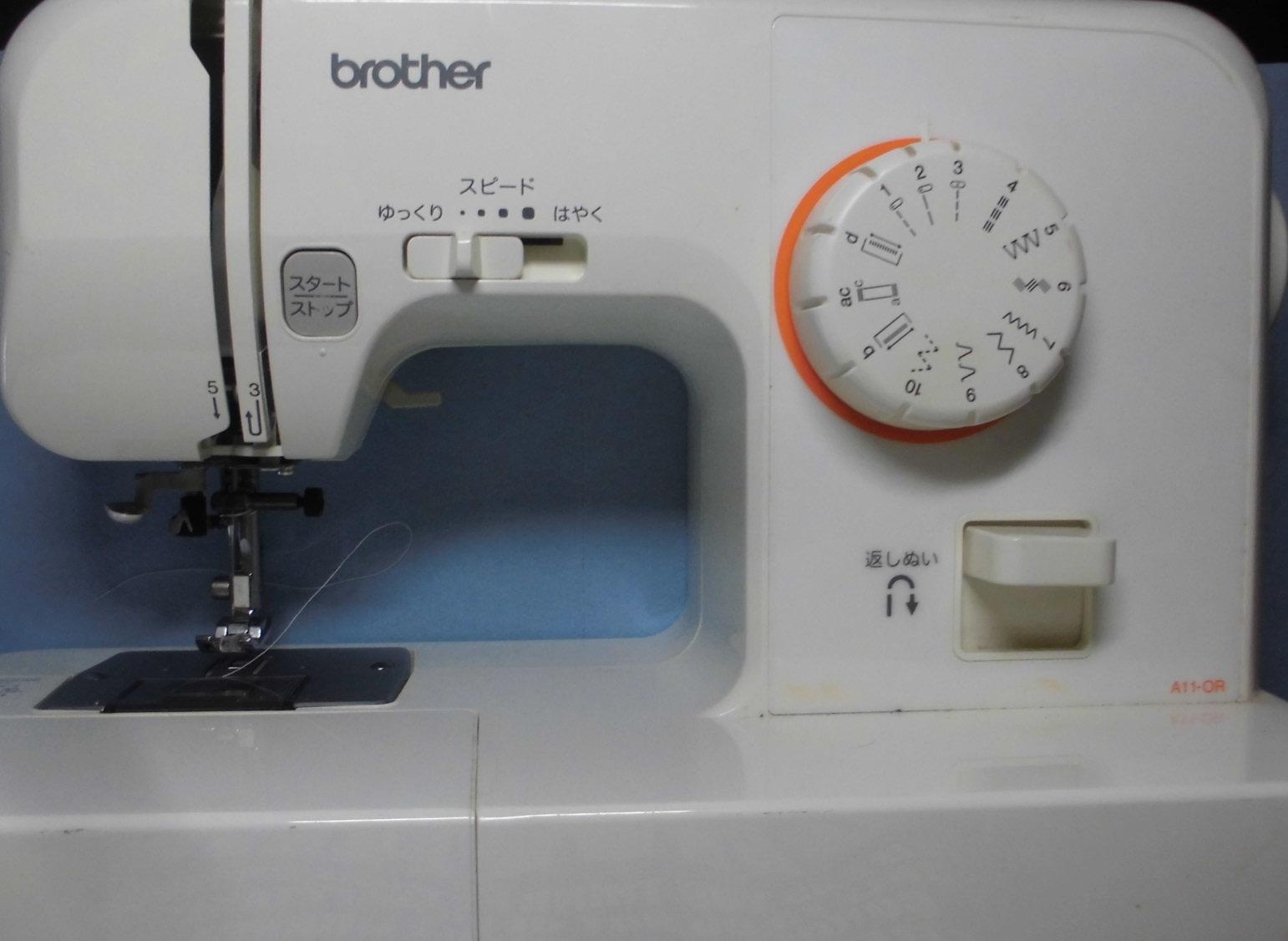 ブラザーミシン修理|A11-OR EL115|下糸をすくえない、縫えない、糸が絡まない