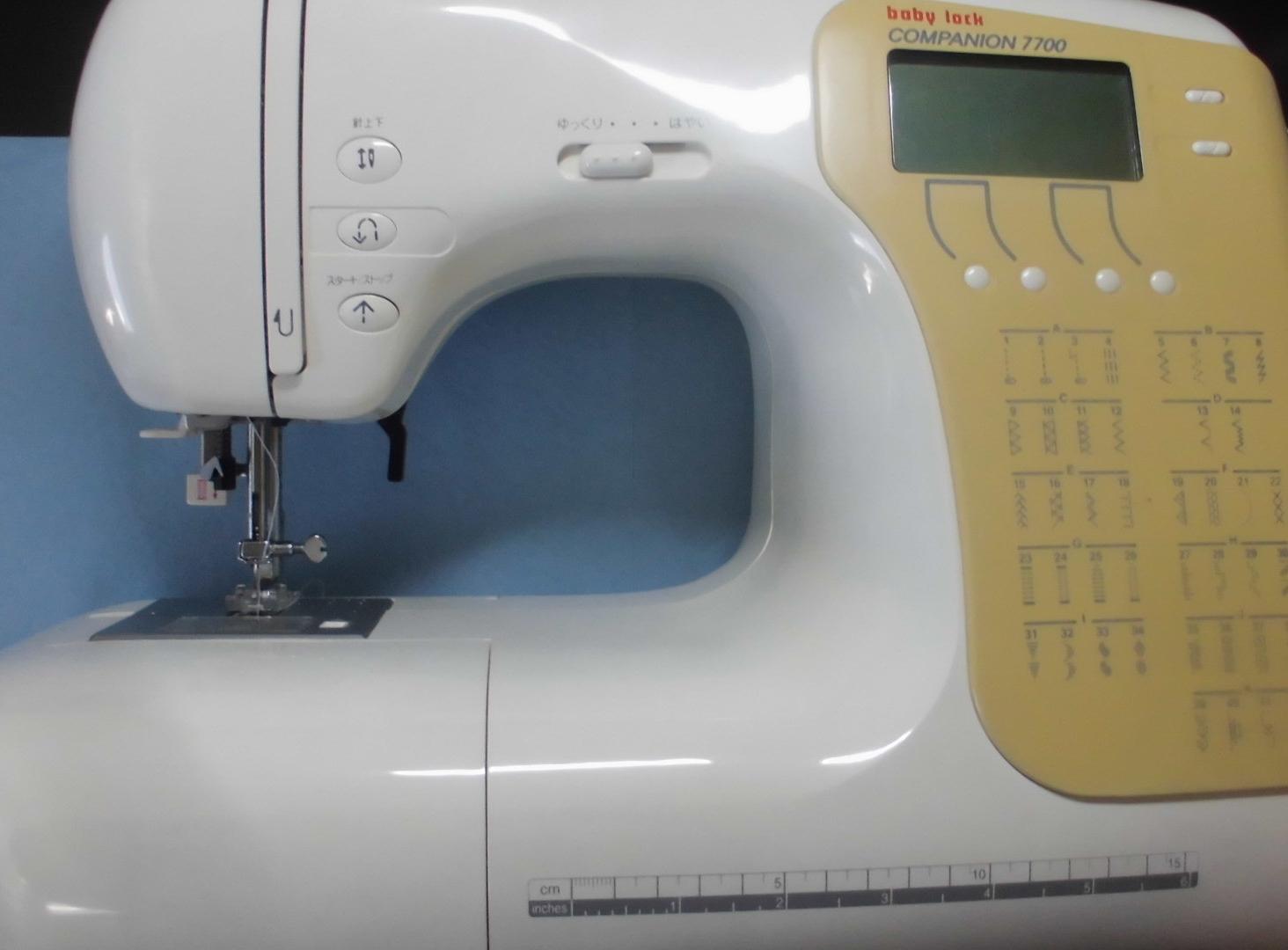 ベビーロックミシン修理|COMPANION7700|縫えない、糸が絡まる、糸調子不良