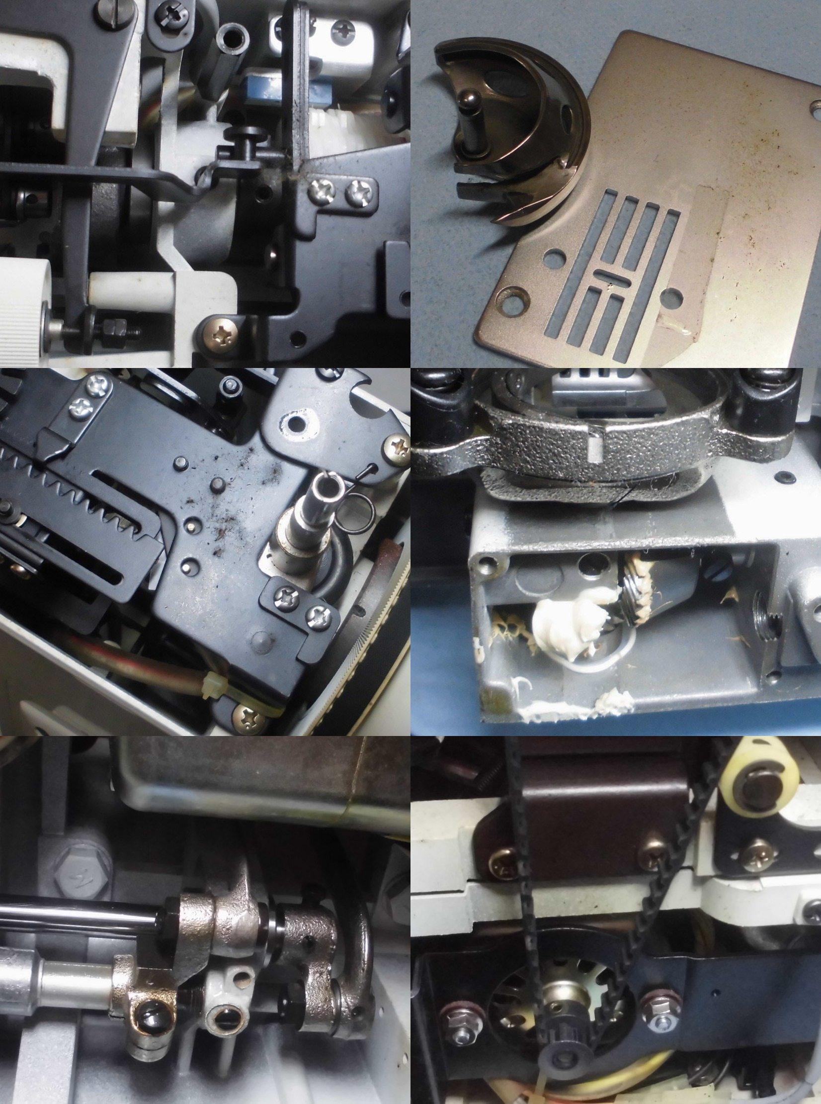 ELECTRON6000の全体オーバーホールメンテナンス修理|シンガーミシン