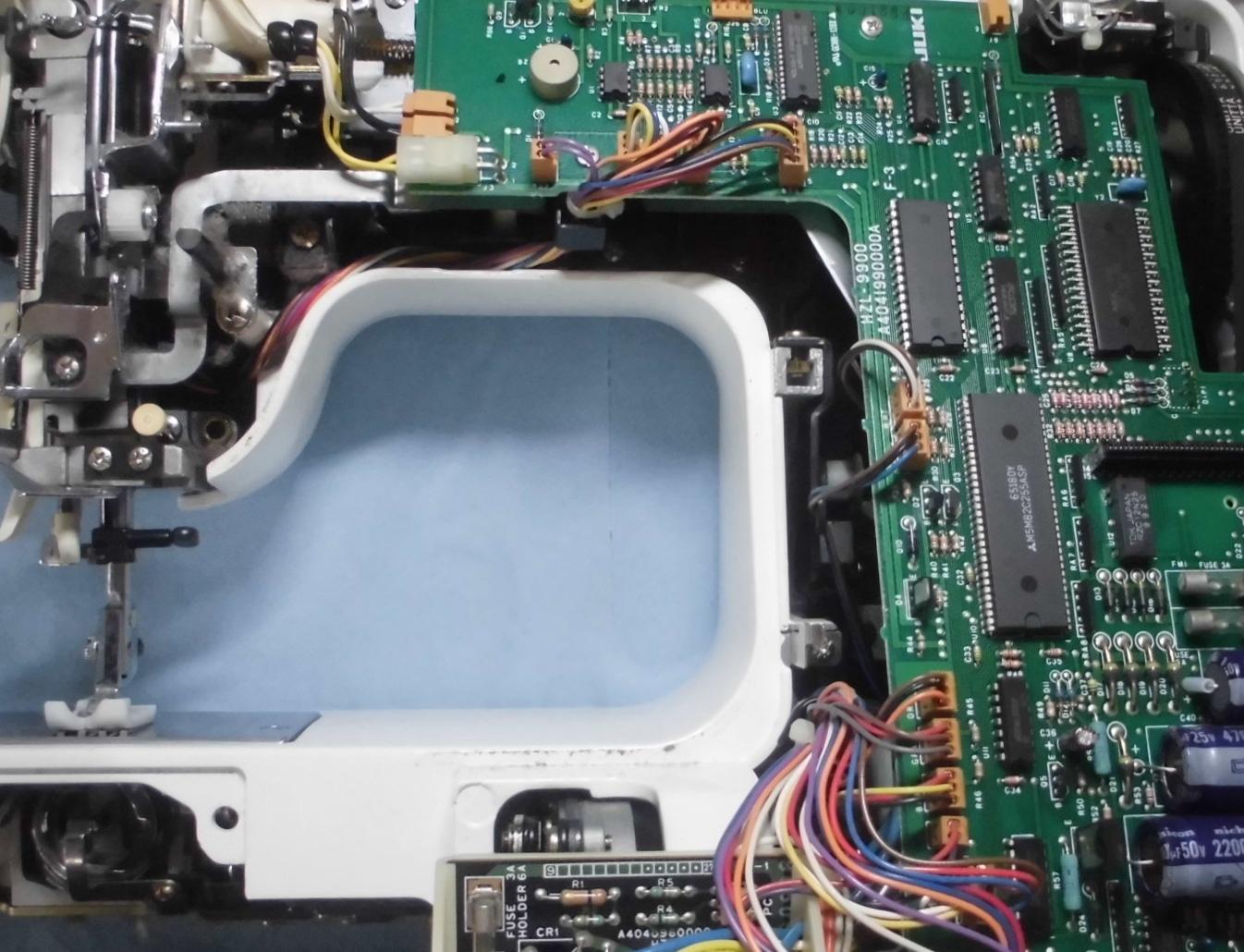 HZL-1000の分解オーバーホールメンテナンス修理|JUKIミシン