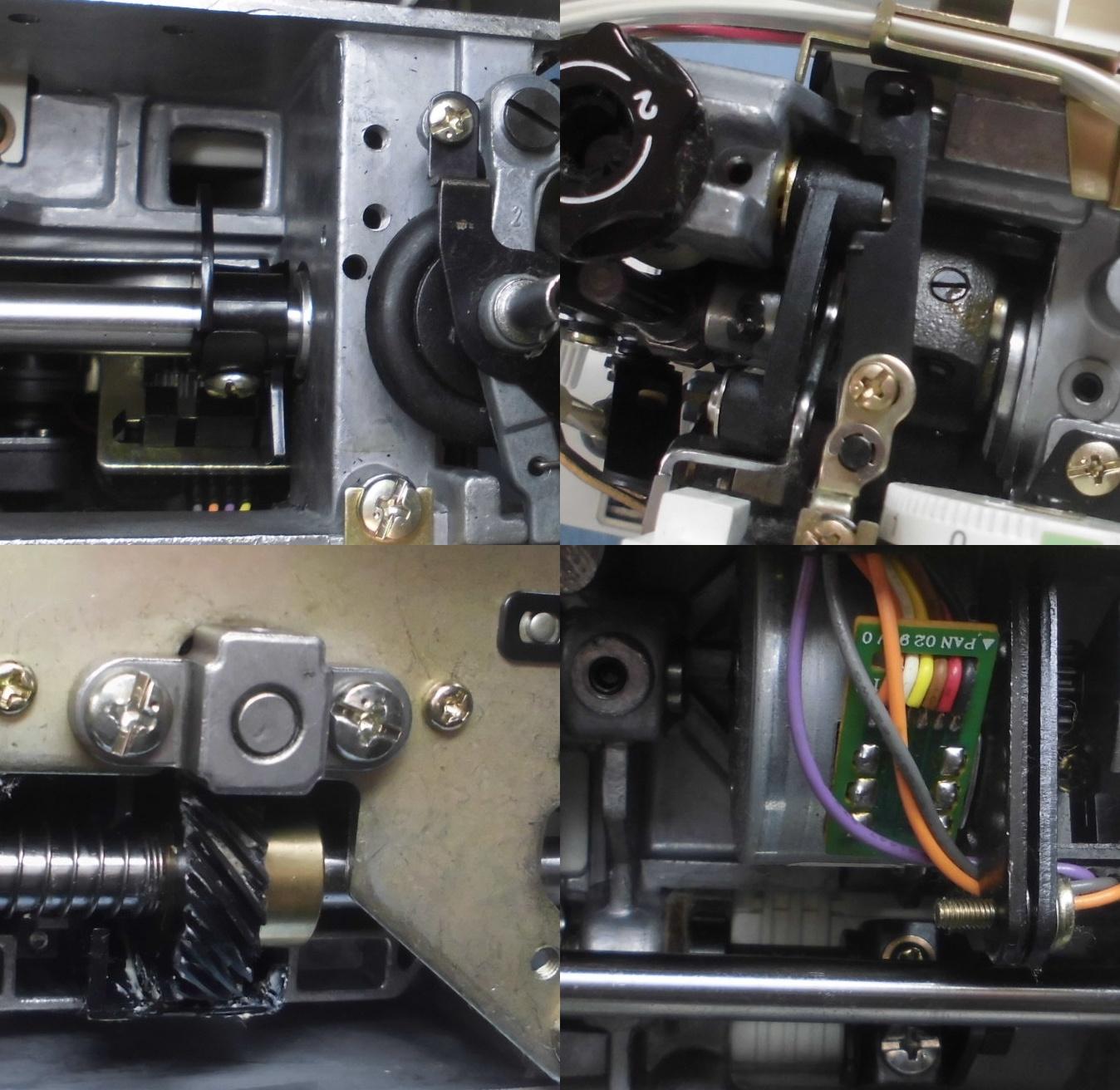 ジャノメミシン6650の全体メンテナンス修理