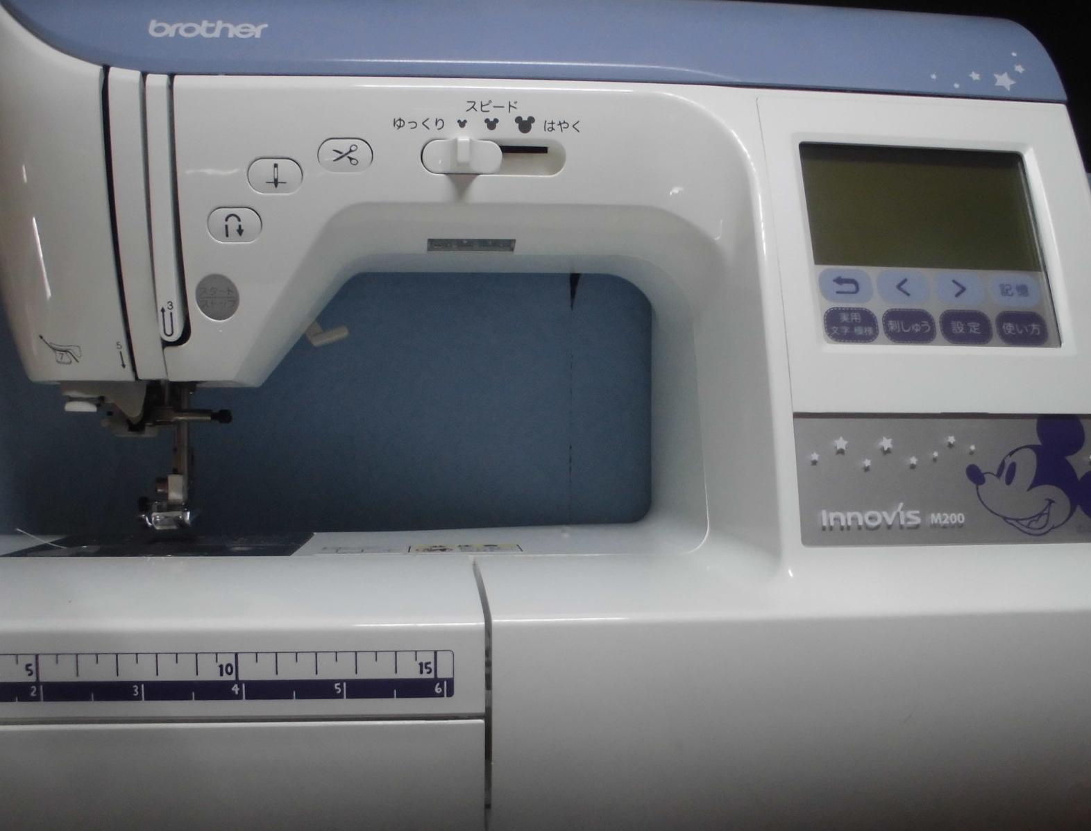 ブラザーミシン修理|イノヴィスM200|正常に縫えない、異音、糸絡み、部品の破損