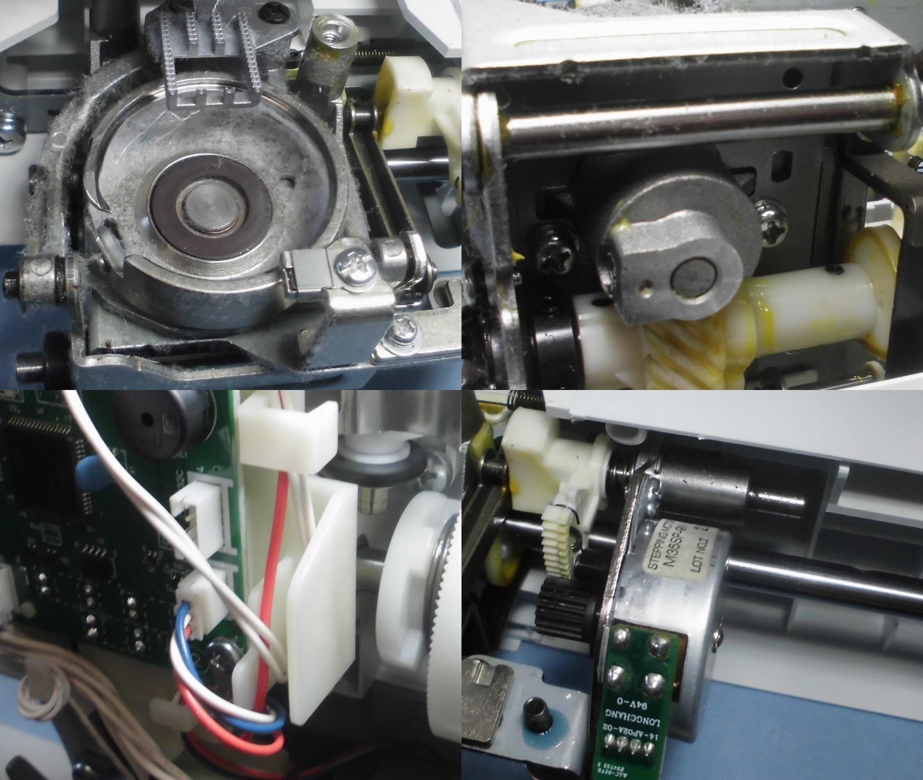 ブラザーミシンPS203の故障や不具合 エラーE6、固着、部品の焼き付き、釜ずれ