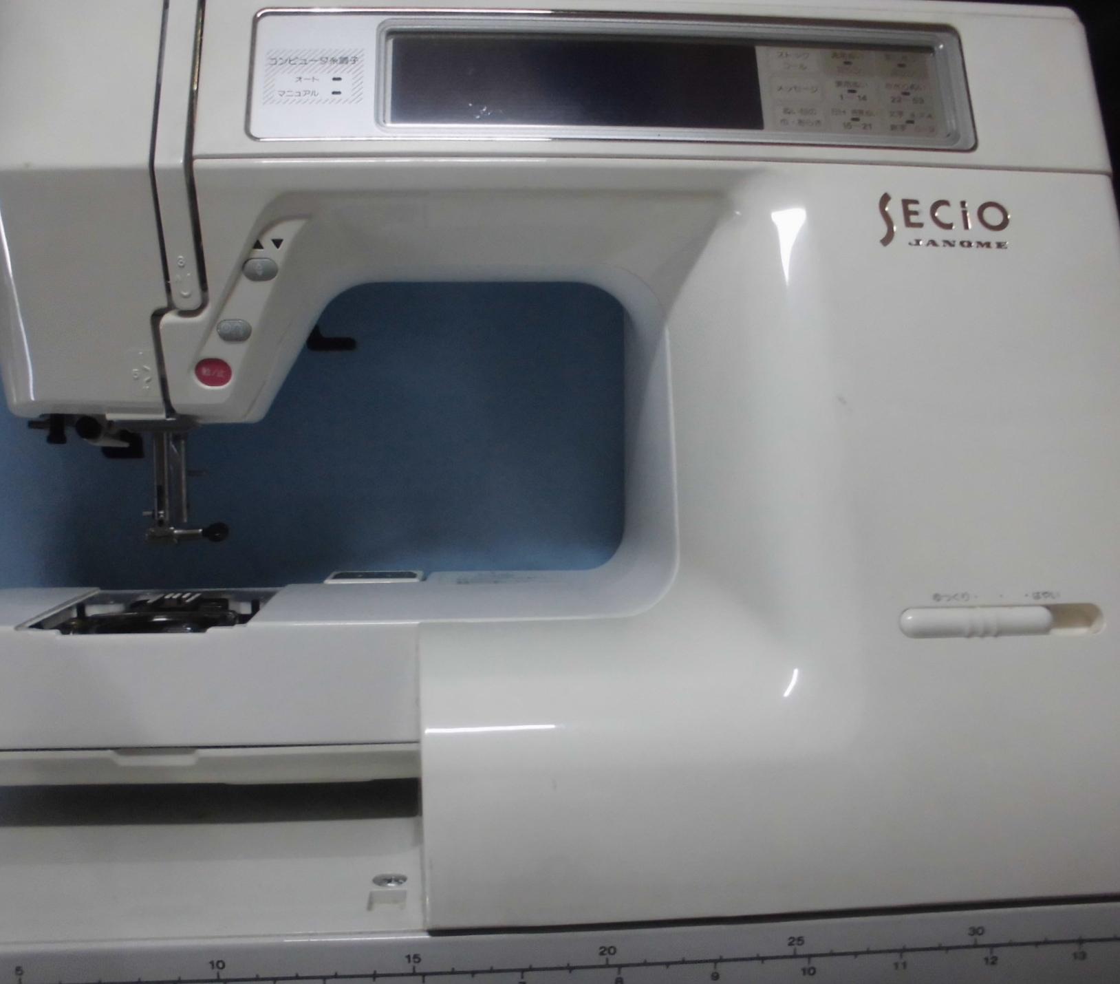 JANOMEミシン修理|SECIO8210|ステッピングモーターエラー、液晶が暗い