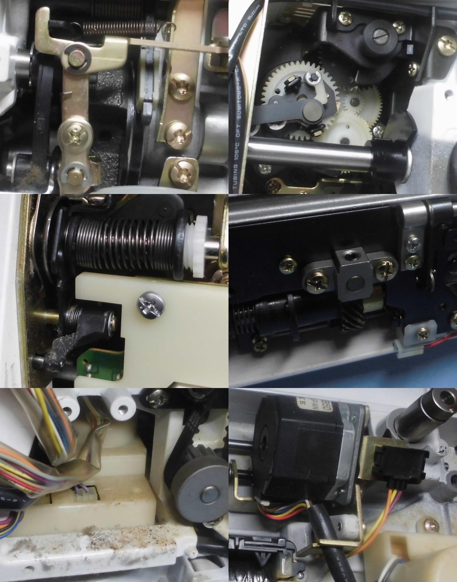 SECIO8210の分解オーバーホールメンテナンス修理|JANOMEミシン