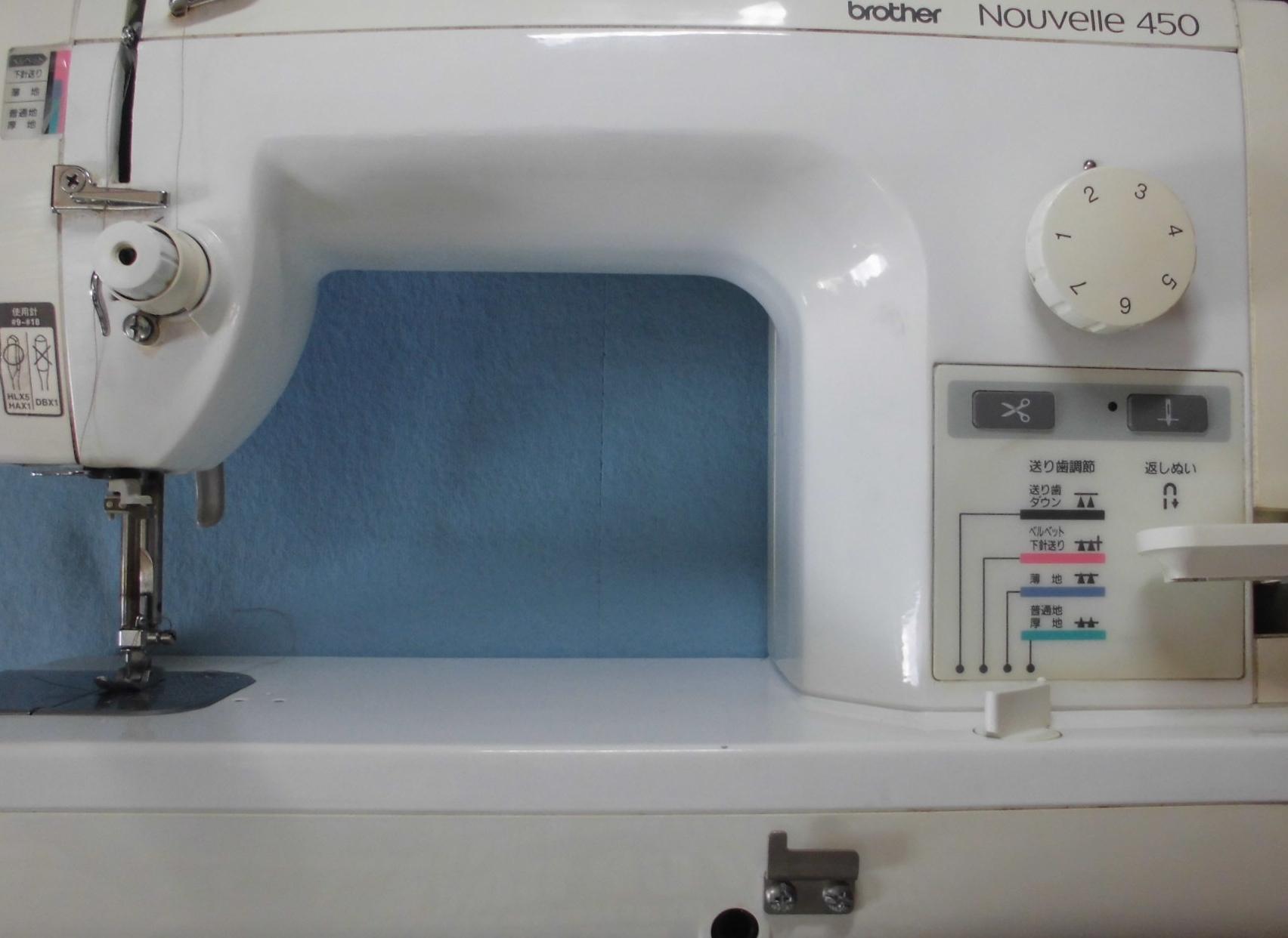 ブラザーミシン修理|ヌーベル450|動かない、縫えない、部品の破損・交換