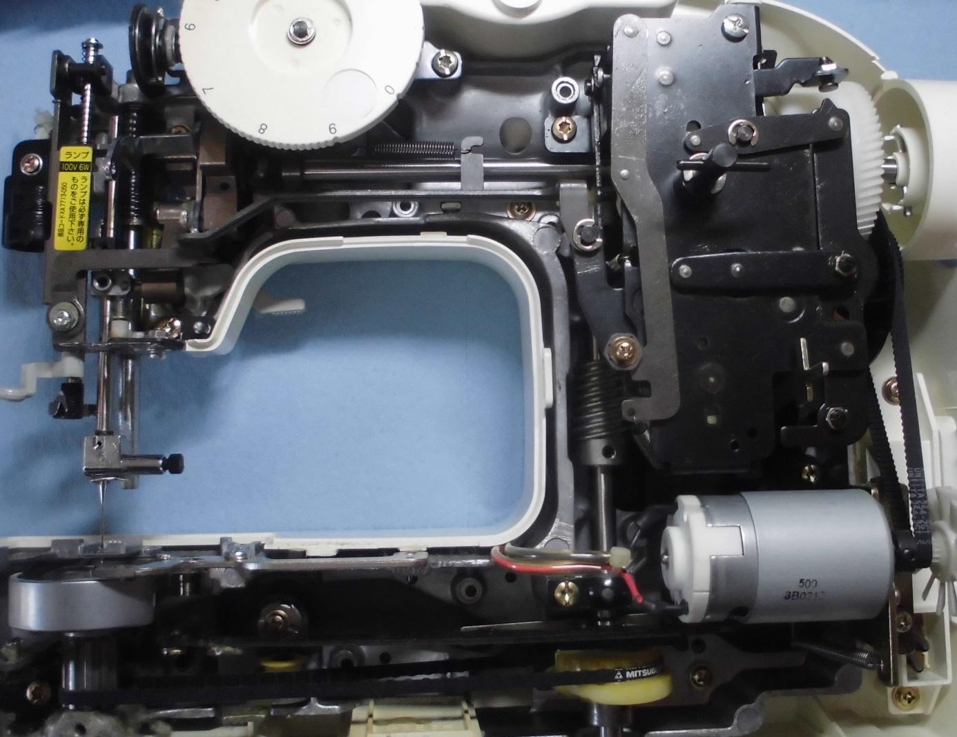 ブラザーミシンEL125の分解オーバーホールメンテナンス修理|PUPPETmini